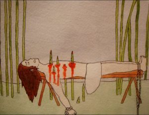 bamboo torture bamboo growing through body